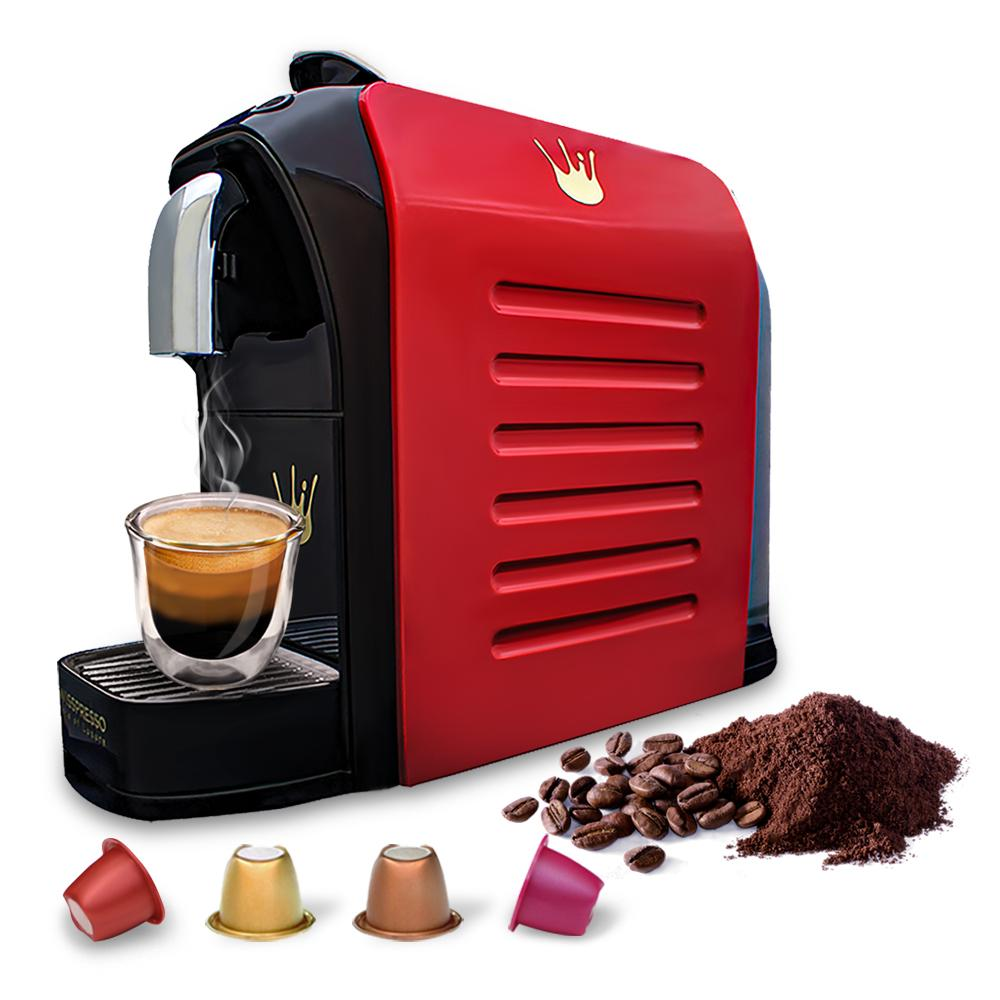 Swiss Presso Föhn Espresso Coffee Machine Red - Nespresso Compatible