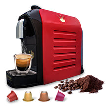 Load image into Gallery viewer, Swiss Presso Föhn Espresso Coffee Machine Red With 60 Neronobile Capsules - Nespresso Compatible