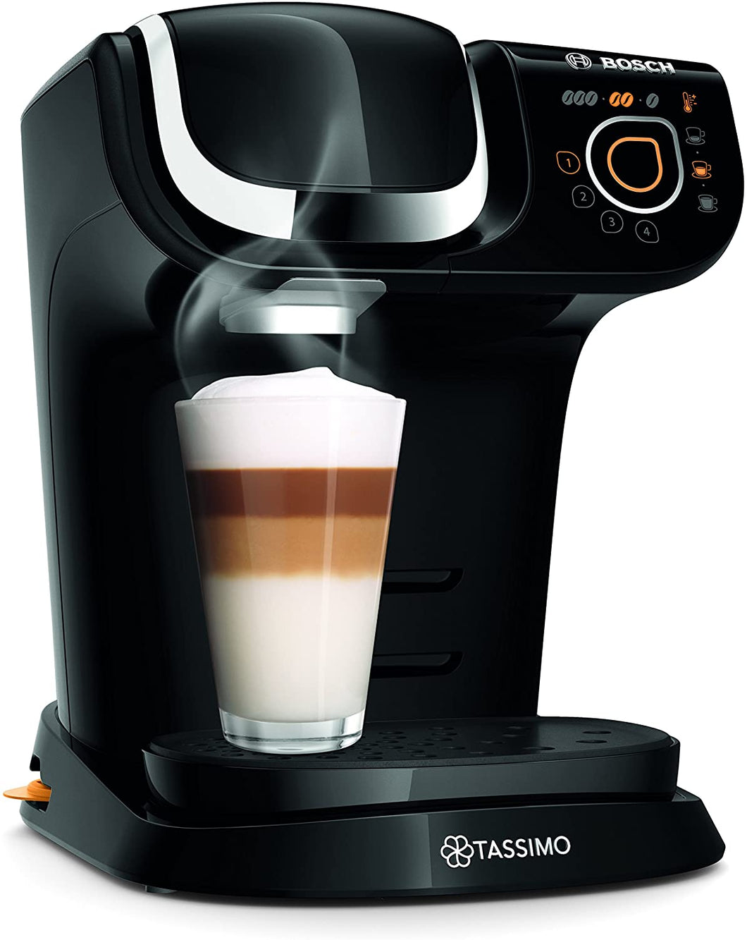 Bosch Tassimo My Way TAS6002GB Coffee Machine, 1500 W, 1.2 Litres, Black
