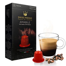 Load image into Gallery viewer, 7 Packs of Swiss Presso and Neronobile Capsules (70 capsules of Coffee, Chocolate, Hazelnut, Crème Brulee) - Nespresso Compatible