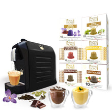 Load image into Gallery viewer, Swiss Presso Föhn Espresso Coffee Machine Black With 60 Neronobile Capsules (Chocolat, Hazelnut, Crème Brulee, Tea)- Nespresso Compatible