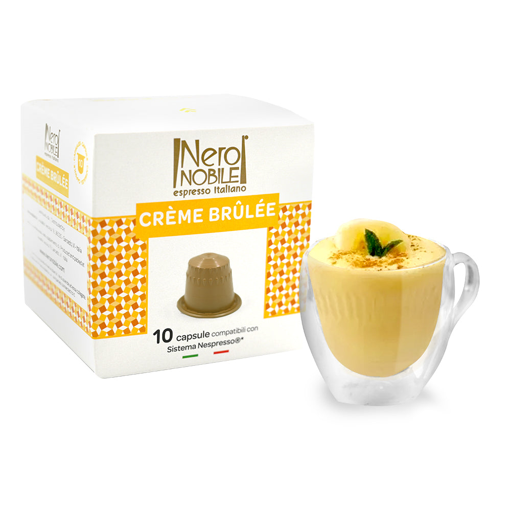 Neronobile Crème Brulee Nespresso Compatible Capsules Pack of 10