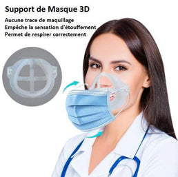 Support de masque 3D silicone par lot de 5pcs pour enfants ou adultes
