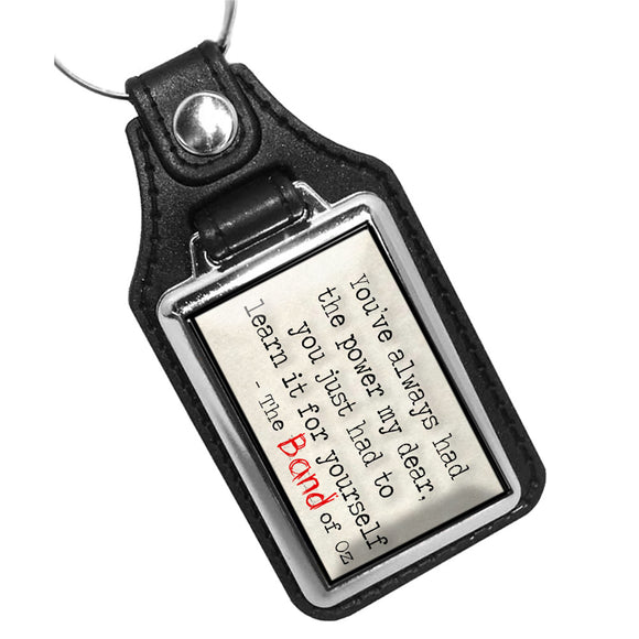 The Wizard of Oz The Band of Oz Quote Faux Leather PVC Key Ring