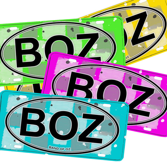 BOZ Band of Oz Aluminum License Plate Multi Colors