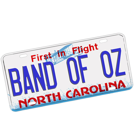 Band of Oz North Carolina Design Aluminum License Plate Multi Colors