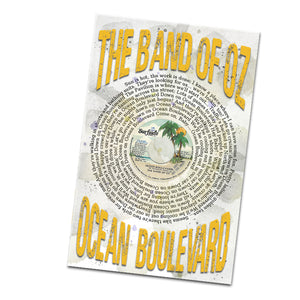The Band of Oz Ocean Boulevard Record and Lyrics 11x17 Inch Poster Glossy Print