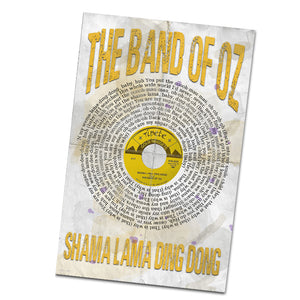 The Band of Oz Shama Lama Ding Dong Record and Lyrics 11x17 Inch Poster Glossy Print