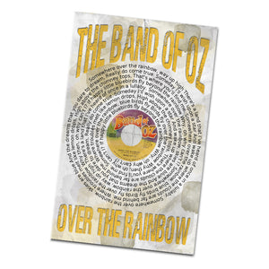 The Band of Oz Over The Rainbow Record and Lyrics 11x17 Inch Poster Glossy Print