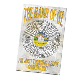 The Band of Oz Cooling Out Record and Lyrics 11x17 Inch Poster Glossy Print