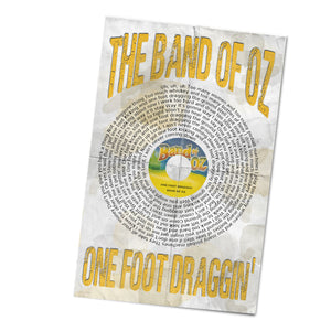 The Band of Oz One Foot Draggin Record and Lyrics 11x17 Inch Poster Glossy Print