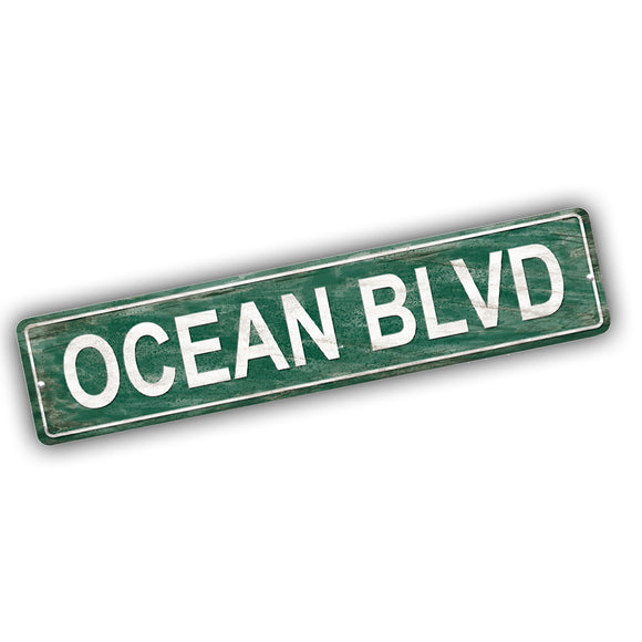 Band of Oz Ocean Boulevard Aluminum Street Sign