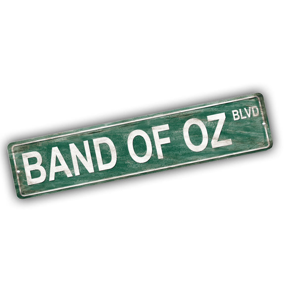 Band of Oz Boulevard Aluminum Street Sign