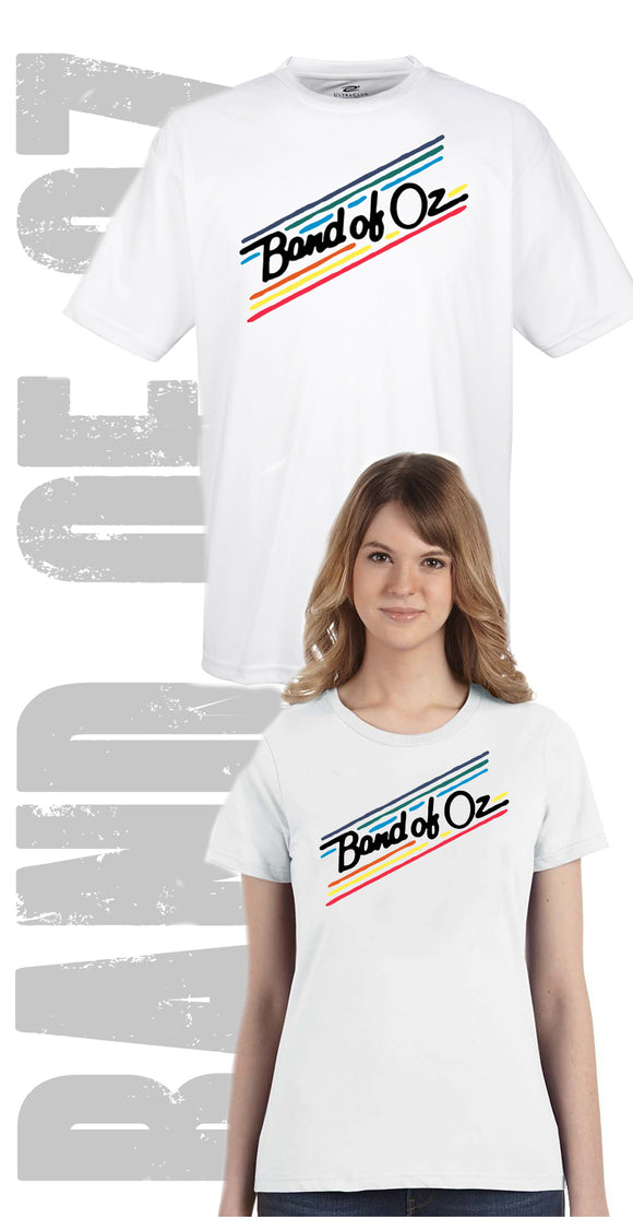 Traditional Band of Oz Rainbow Colors 100% Poly T-Shirt