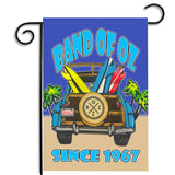 Band of Oz Woody Surfing Wagon Since 1967 Garden Flag