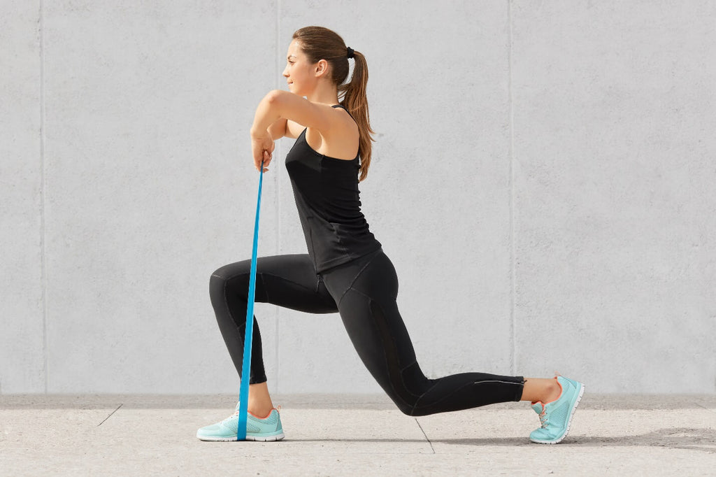 Resistance Band Lunges