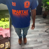 Electric blue Spartan T-shirt