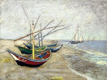 Charger l'image dans la galerie, Fishing Boats Saintes Maries Oil Painting on Canvas Print