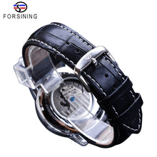 Charger l'image dans la galerie, Forsining Blue Moon Phase Mechanical Watches Automatic Tourbillon Men's Genuine Leather Watch