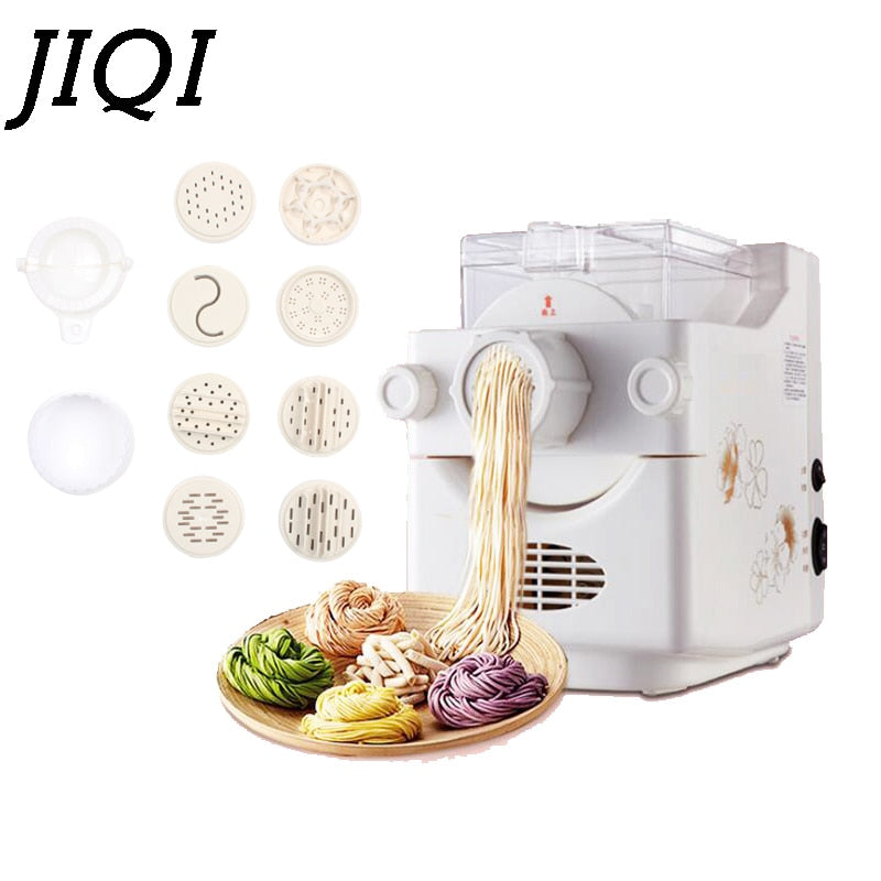 Noodle Maker Automatic Electric Pasta Making Machine Spaghetti Cutter Dumpling wrapper Pressing Hanger Dough Blender processor