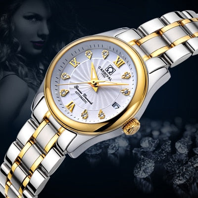 Carnival Women Watches Luxury Brand ladies Automatic Mechanical Sapphire Waterproof