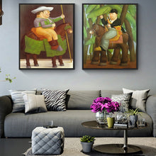 Charger l'image dans la galerie, Fernando Botero The President And First Lady Oil Paintings Print On Canvas Art Posters And Prints