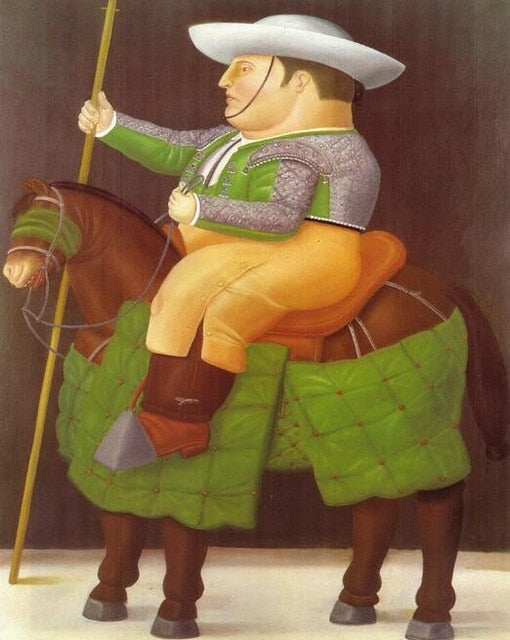 Fernando Botero The President And First Lady Oil Paintings Print On Canvas Art Posters And Prints