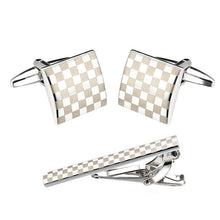 Load image into Gallery viewer, Cufflinks Tie Clips Set Simple Necktie Tie Bar Clasp Accessories For Mens Suit Nice Gift