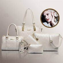 Charger l'image dans la galerie, 6 Pcs / Set Fashion Women Handbag Shoulder Bag Wallets Purse Key Bag Set