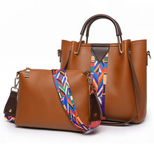 Carica l'immagine nel visualizzatore di Gallery, Woman Bag Famous Brand Women 2 Pcs/Set Composite bags 2020 Female Leather Handbag Shoulder Messenger bag