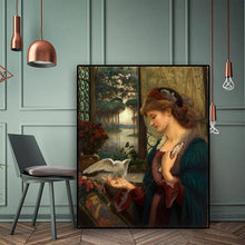 Load image into Gallery viewer, Love's Messenger Portrait Oil Painting on Canvas Prints