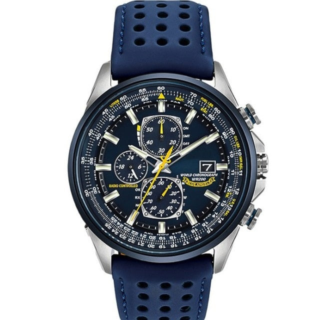 World Chronograph Watch Blue Angels Automatic Quatz with Gift Box