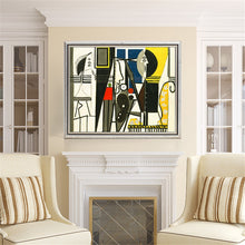 Load image into Gallery viewer, abstract Painter and Model Canvas Print