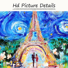 Load image into Gallery viewer, Tower in Starry Sky Oil Painting on Canvas Print Art