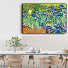 Load image into Gallery viewer, Garden Iris Oil Painting Reproductions on Canvas Prints