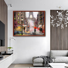 Carica l'immagine nel visualizzatore di Gallery, Abstract Paris Street Landscape Canvas Printings Sunset Lover Oil Painting Home Decor