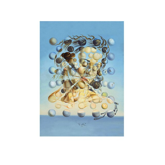 Salvador Dali Galatea Spheres Oil Painting Canvas Print Wall Art