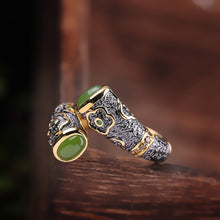 Load image into Gallery viewer, Ring Luxury Female Natural Jade Classic Real 100% 925 Sterling Silver