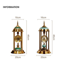 Load image into Gallery viewer, Retro Table Clock ,Ornament Desk Clock Battery Operated Silent ,Desktop Clock Living Room, Indoor Home Decoration