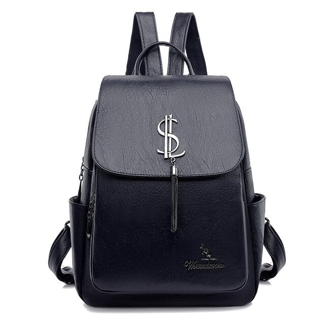 Backpack High Quality Soft Leather Backpacks for Teenagers Girls Casual Travel