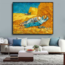 Load image into Gallery viewer, Rest From Work Oil Painting on Canvas Print Art
