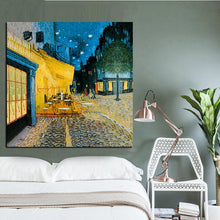 Charger l'image dans la galerie, Night Street Cafe Terrace Oil Painting Vintage Prints Canvas Home Decor