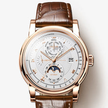 Load image into Gallery viewer, LOBINNI Men Watch Luxury Moon Phase Automatic Mechanical Men's Wirstwatches Sapphire Leather L16003-5