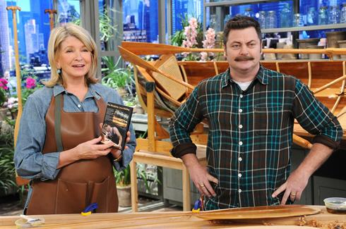 Nick Offerman and Martha Stewart