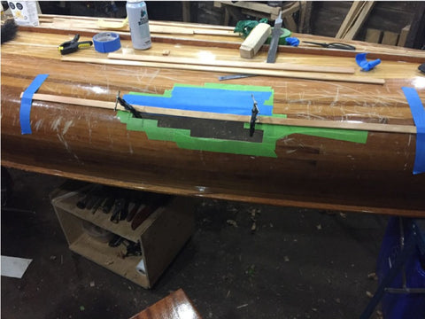 Building hull patch from new strips