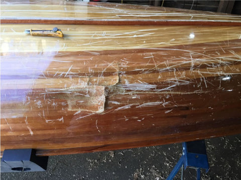 Canoe damage