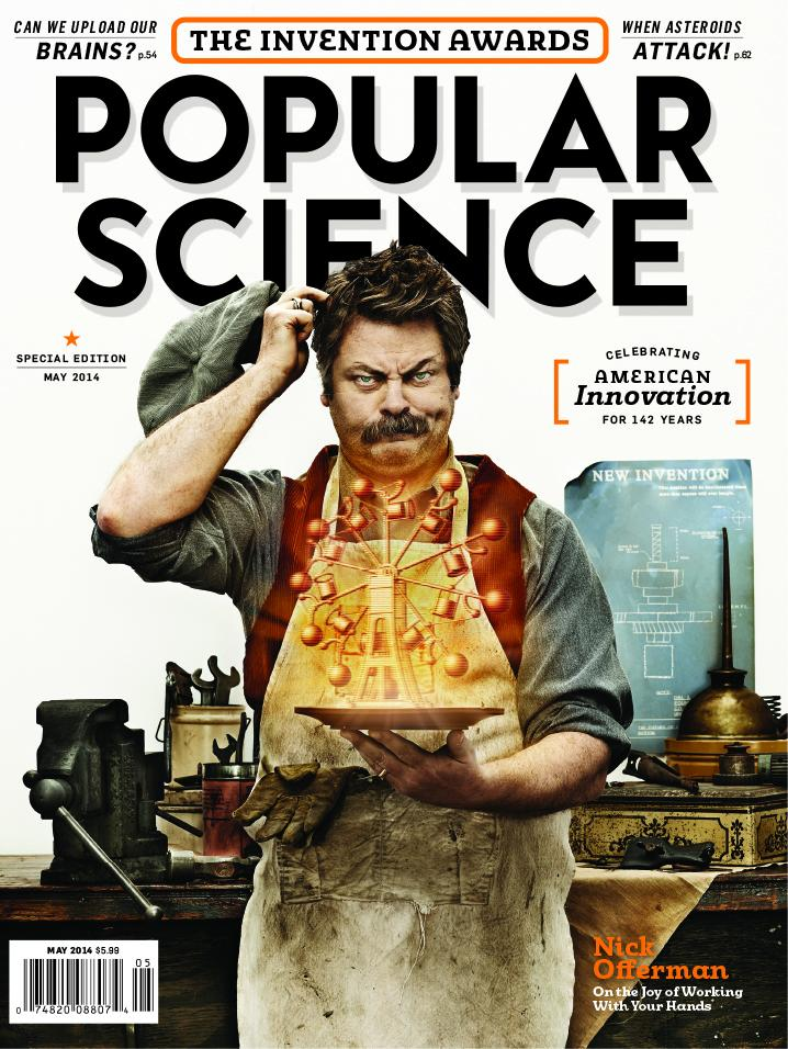Nick Offerman on Popular Science magazine May 2014