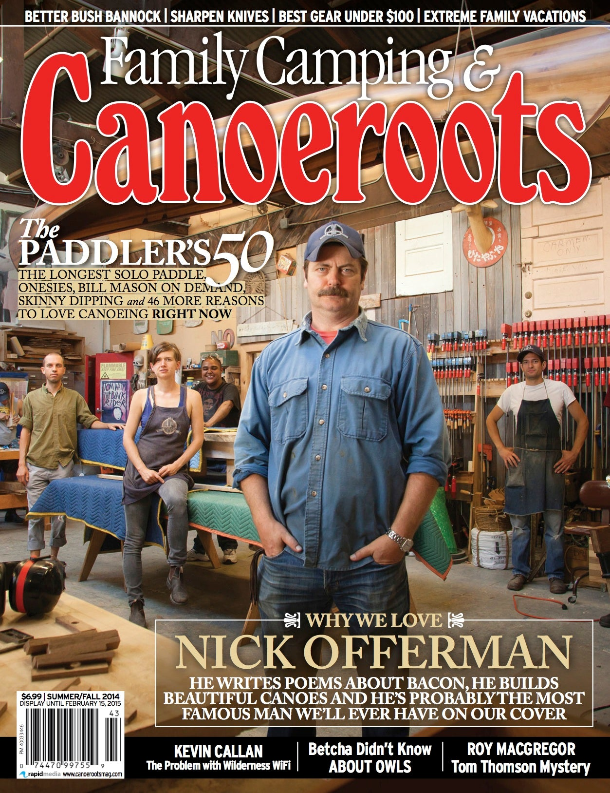 Bear Mountain Boats in Canoeroots magazine, Nick Offerman, Summer Fall 2014