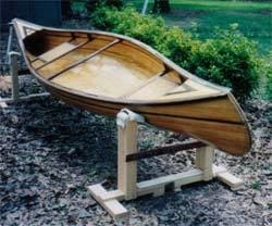 Example of a Bear Mountain Boats canoe cradle