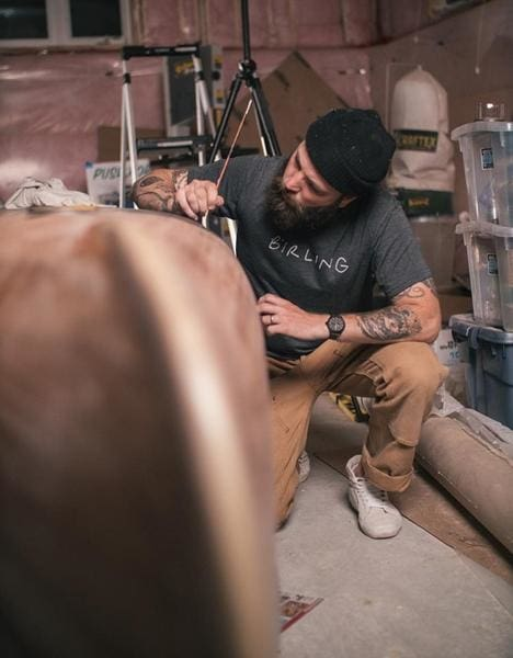 Creative Collaboration: Andrew Szeto And Drew Mosleys Painted Canoe